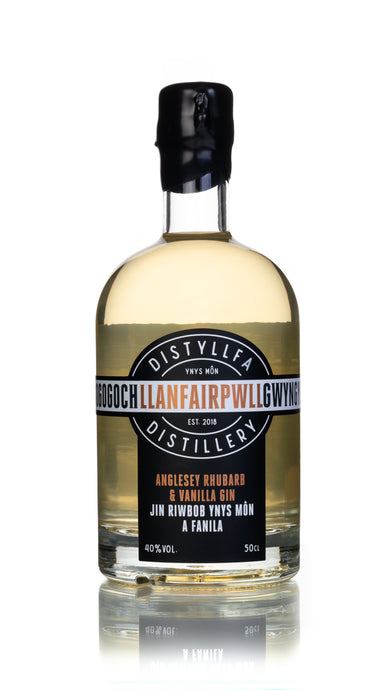 Llanfairpwll Distillery - Anglesey Rhubarb & Vanilla Gin 50cl Craft Anglesey Gin