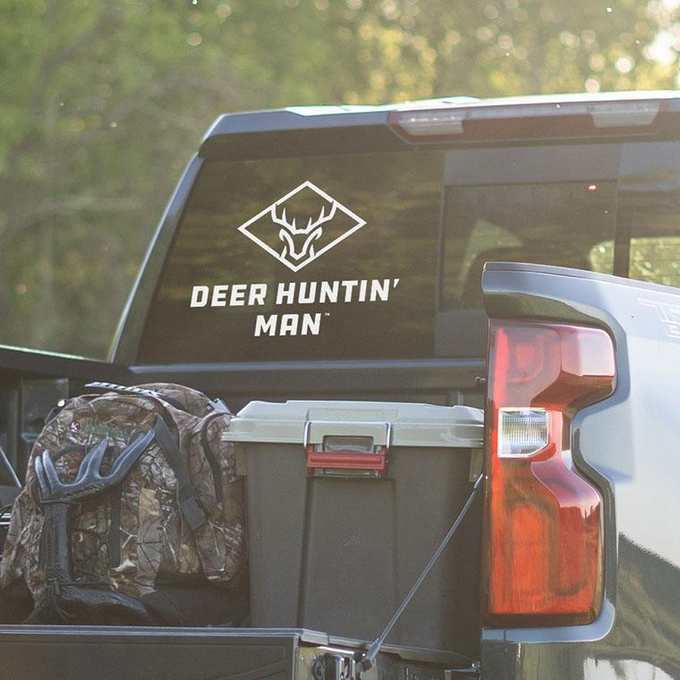 Deer Huntin' Man Decal