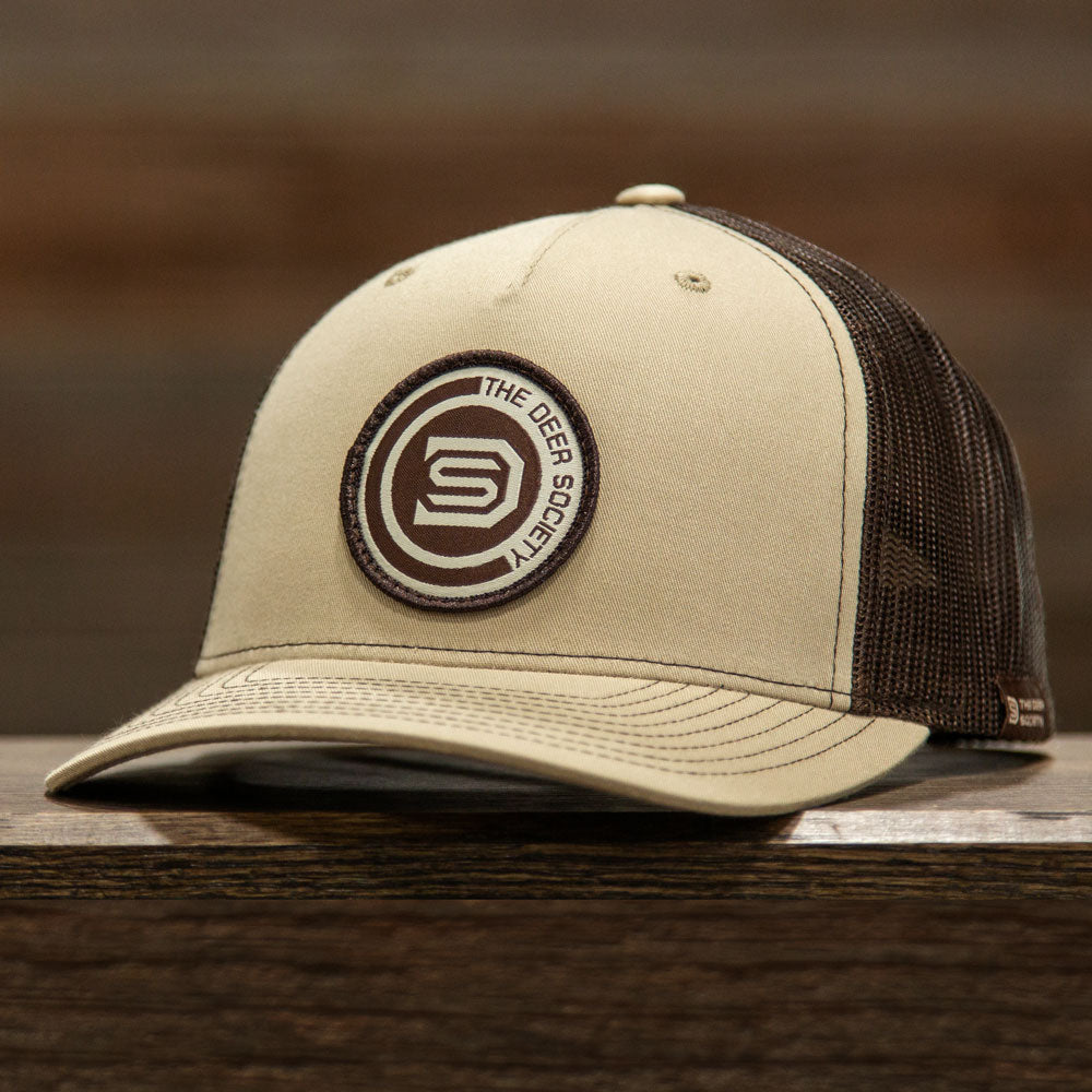 Khaki Coffee DS Circle Patch
