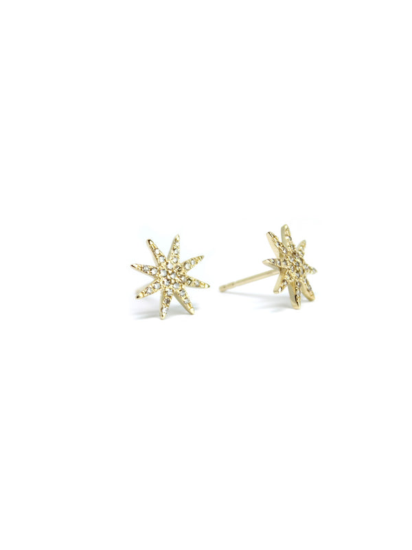 Athena — Star Burst Diamond Studs