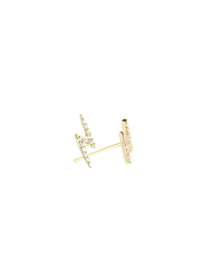 Athena — Lightening Bolt Diamond Studs