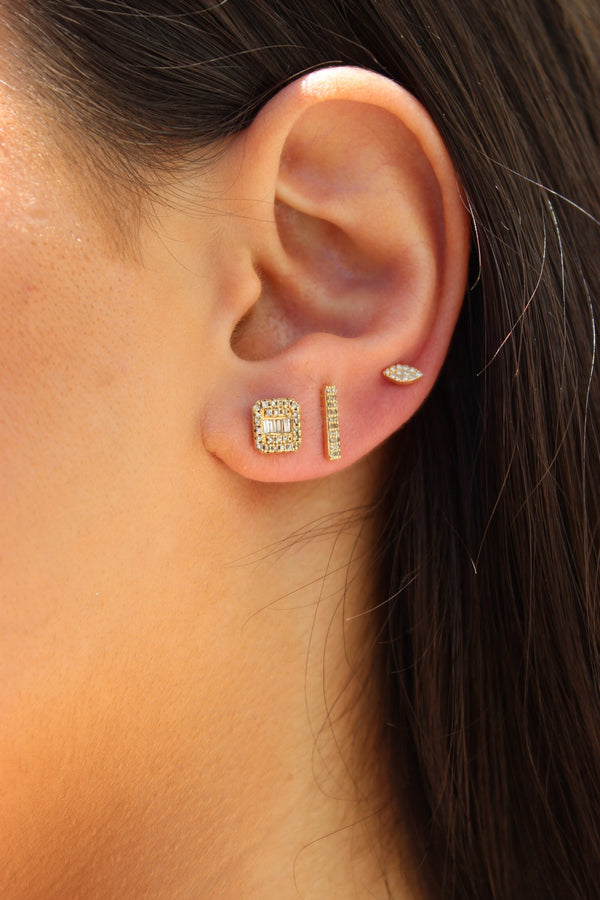 Athena — Bar Diamond Studs