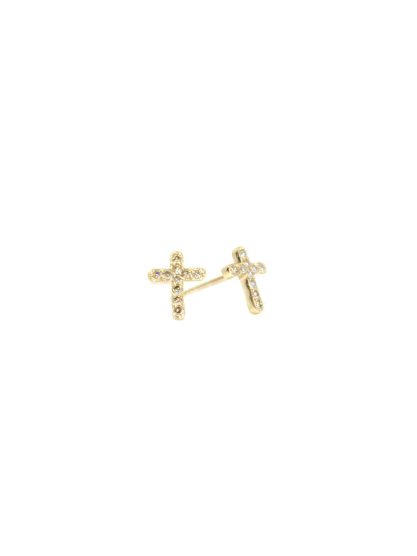Athena — Cross Diamond Studs