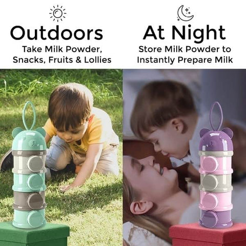 outdoor and at home use of infant formula layered box with side open