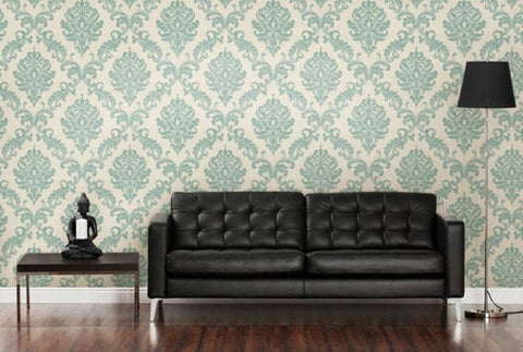 Living Room Wall Design with Pattern Paint Roller
