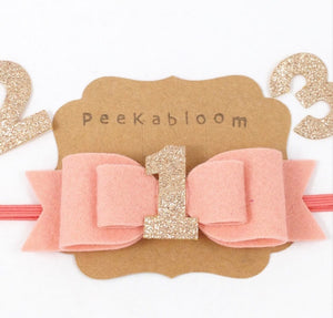 Pink Birthday Bow