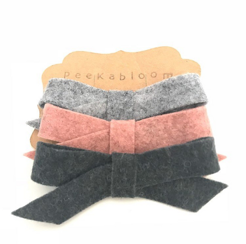 Merino Wool Wrap Bow Trio
