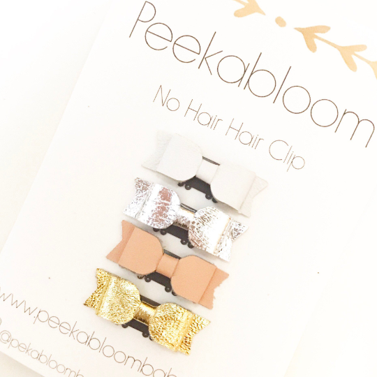 Petite-Mini Bows - Leather
