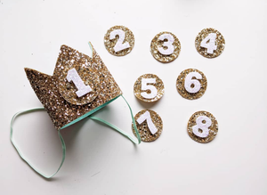 Glitter Crown Numbers