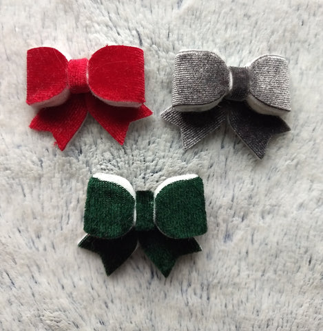 Velvet Mid-Size Alligator Clip (3 Pack) READY TO SHIP