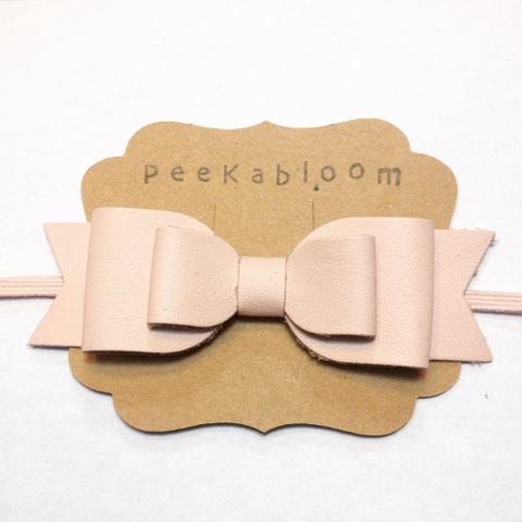 XL Leather Bow