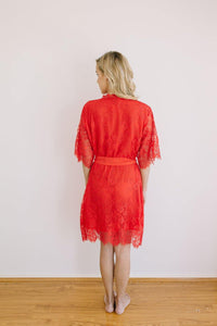 Heiress Kimono Red Robe - Yen the Label