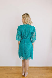 Heiress Kimono Turquoise Robe - Yen the Label