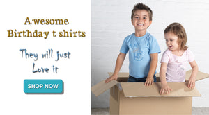 Childrens' Rhinestone Embellished Birthday T Shirts