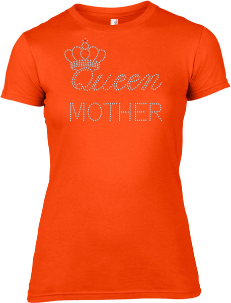 QUEEN MOTHER RHINESTONE EMBELLISHED T SHIRT FOR LADIES