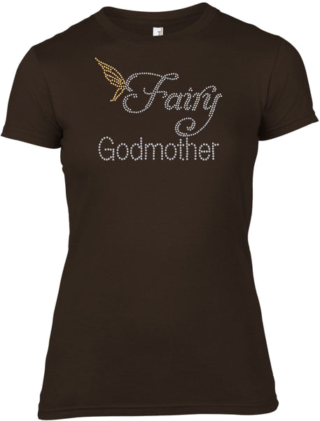 FAIRY GODMOTHER RHINESTONE EMBELLISHED T-SHIRT FOR LADIES