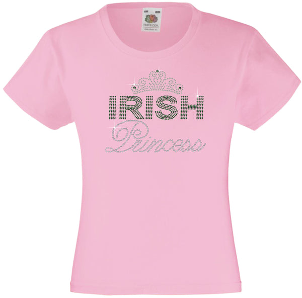 IRISH PRINCESS GIRLS T SHIRT RHINESTONE EMBELLISHED T SHIRT ELEGANT GIFT