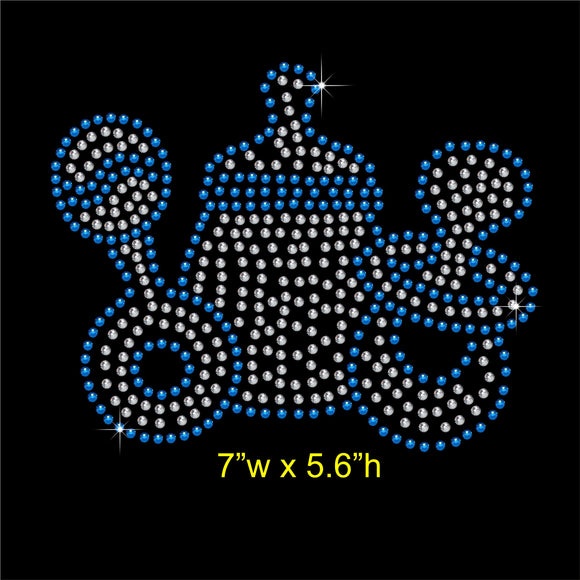 Baby Toy Hotfix Rhinestone Transfer Diamante Motif, Iron-on Applique