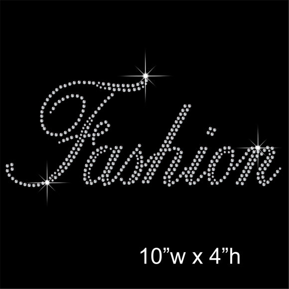 Fashion Hotfix Rhinestone Transfer Diamante Motif, Iron on Applique