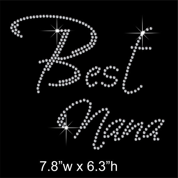Best Nana Hotfix Rhinestone Transfer Diamante Motif, Iron on Applique