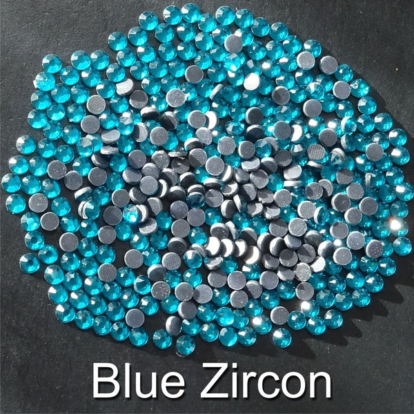 BLUE ZIRCON - TSS Bulk Wholesale Hotfix Iron on Rhinestone Flatback Premium Quality