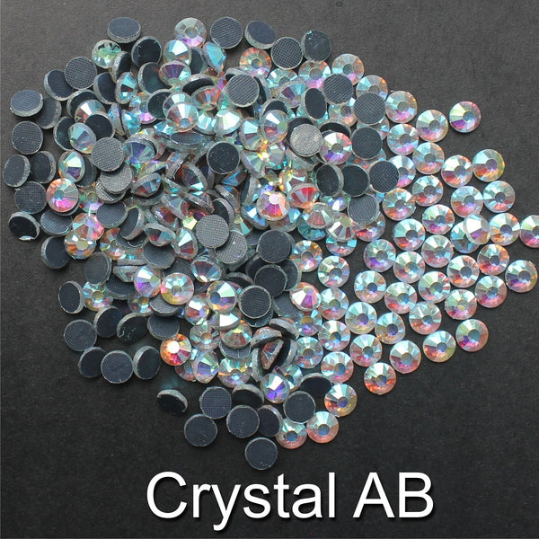 CRYSTAL AB - TSS Bulk Wholesale Hotfix Iron on Rhinestone Flatback Premium Quality