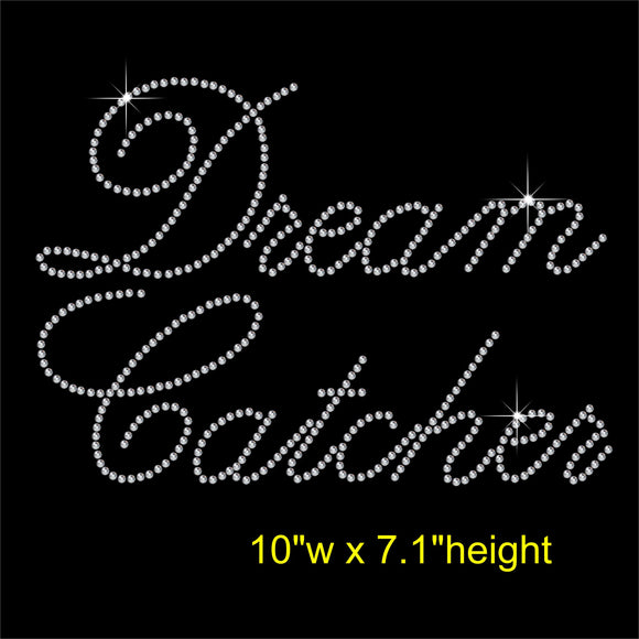 Dream Catcher Hotfix Rhinestone Transfer Diamante Motif, Iron-on Applique
