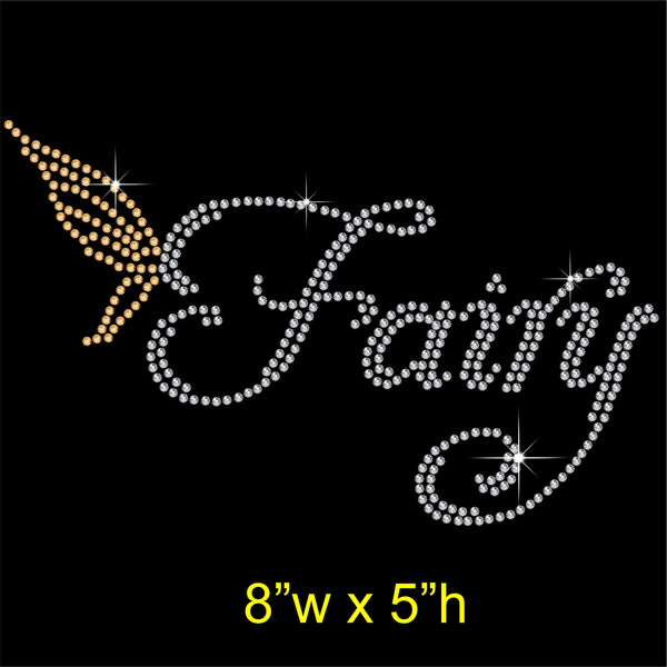 Fairy Hotfix Rhinestone Transfer Diamante Motif, Iron-on Applique