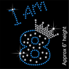 I am 8 Hotfix Rhinestone Transfer Diamante Motif, Iron on Applique