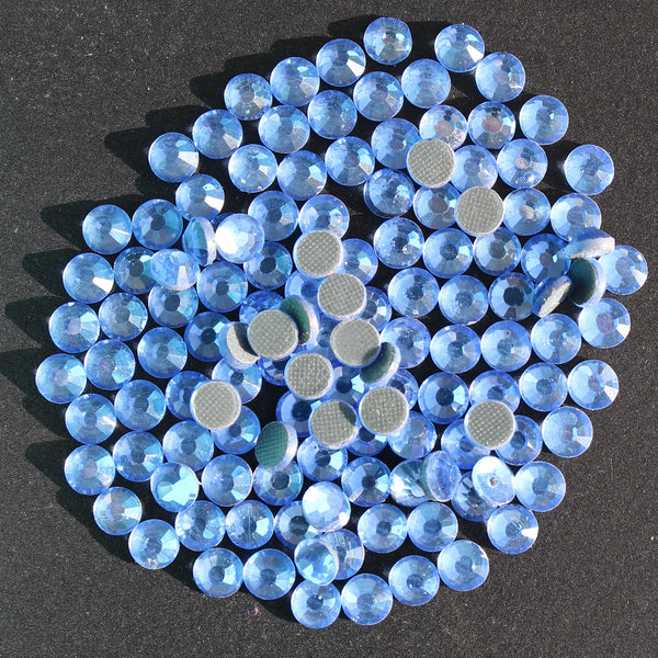 LIGHT SAPPHIRE - TSS Bulk Wholesale Hotfix Iron on Rhinestone Flatback Premium Quality