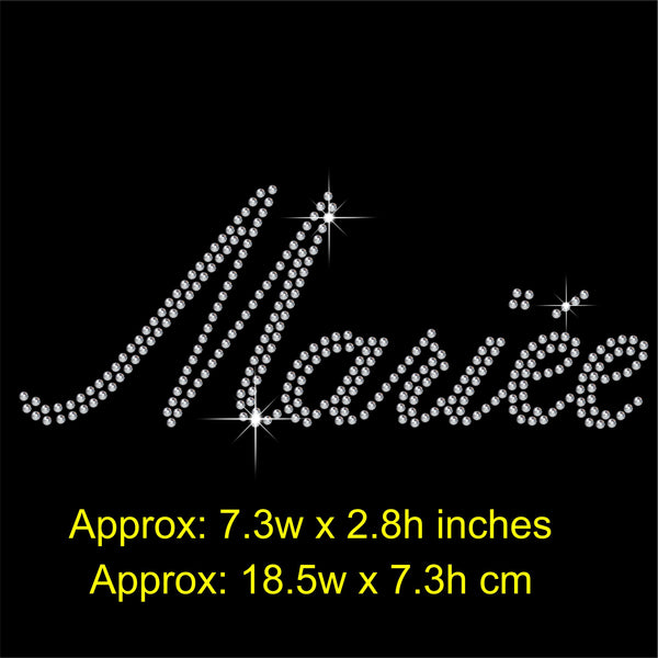 Mariee Hotfix Rhinestone Transfer Diamante Motif, Iron on Applique