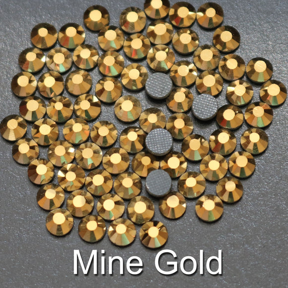 MINE GOLD - TSS Bulk Wholesale Hotfix Iron on Rhinestone Flatback Premium Quality