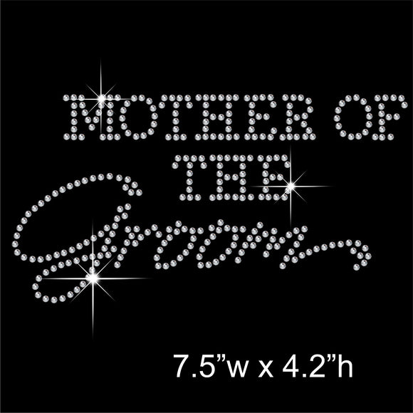 Mother of the Groom Hotfix Rhinestone Transfer Diamante Motif, Iron-on Applique