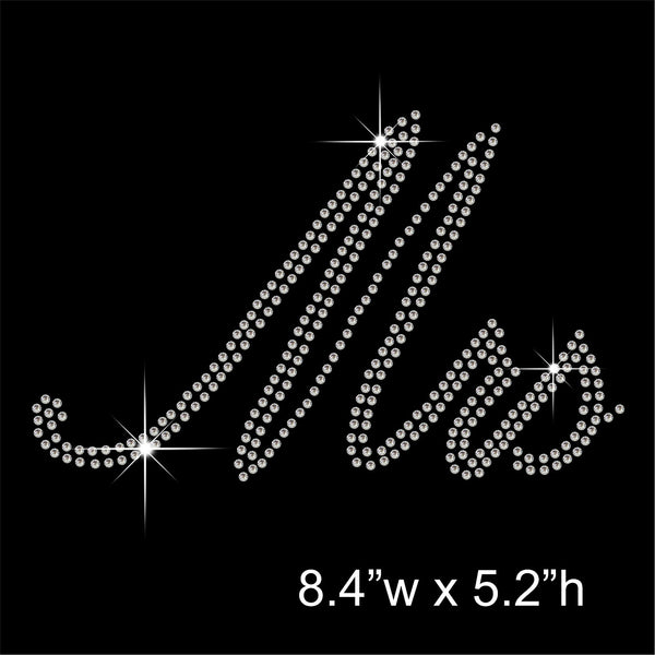 Mrs Hotfix Rhinestone Transfer Diamante Motif, Iron on Applique
