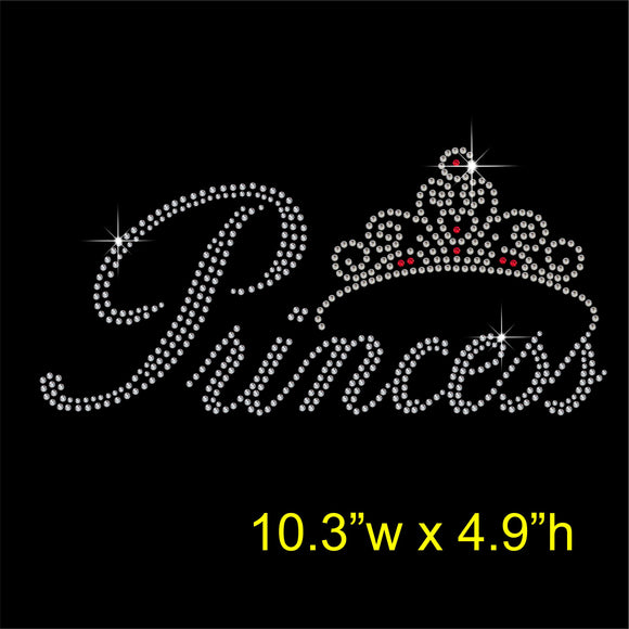 Princess Hotfix Rhinestone Transfer Diamante Motif Iron on Applique