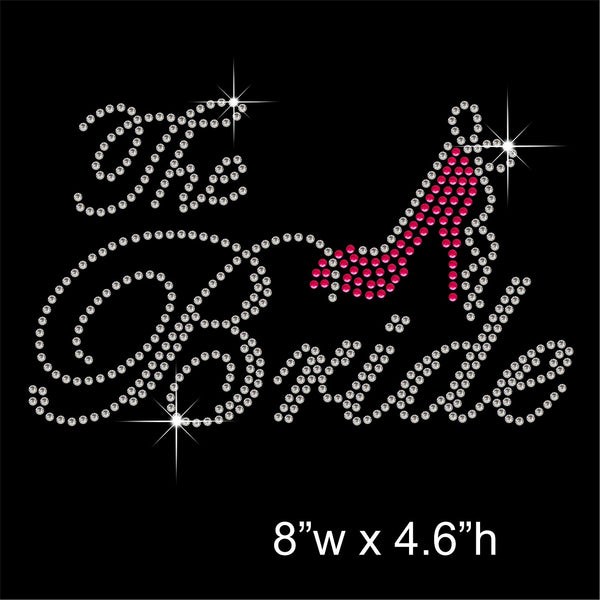The Bride Hotfix Rhinestone Transfer Diamante Motif, Iron on Applique