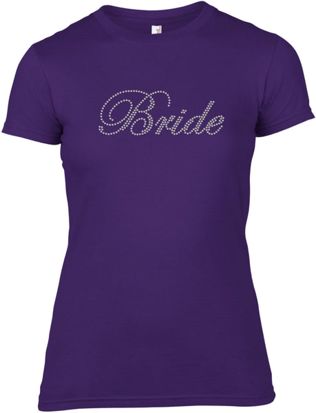 BRIDE RHINESTONE EMBELLISHED HEN DO PARTY T SHIRT FOR LADIES