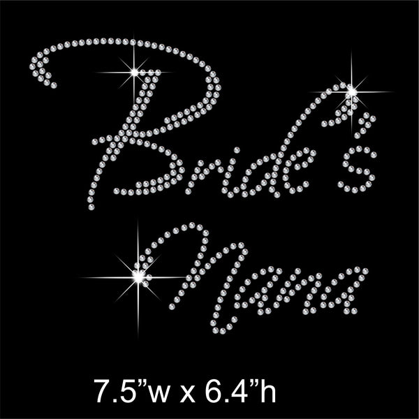 Bride's Nana Hotfix Rhinestone Transfer Diamante Motif, Iron-on Applique