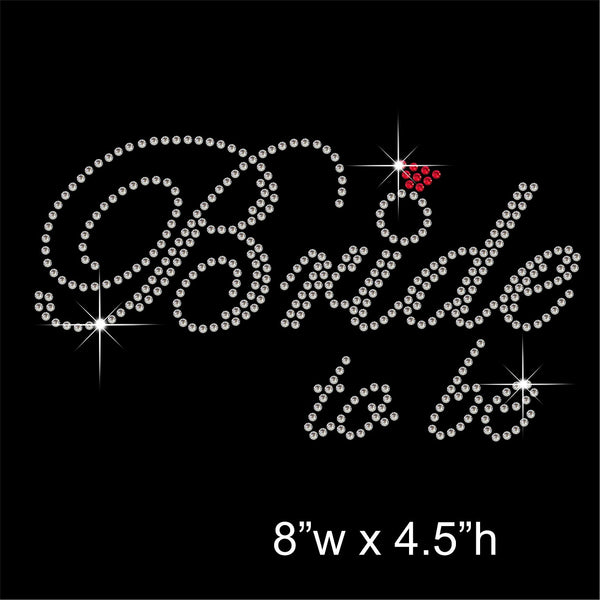 Bride to be Hotfix Rhinestone Transfer Diamante Motif, Iron on Applique