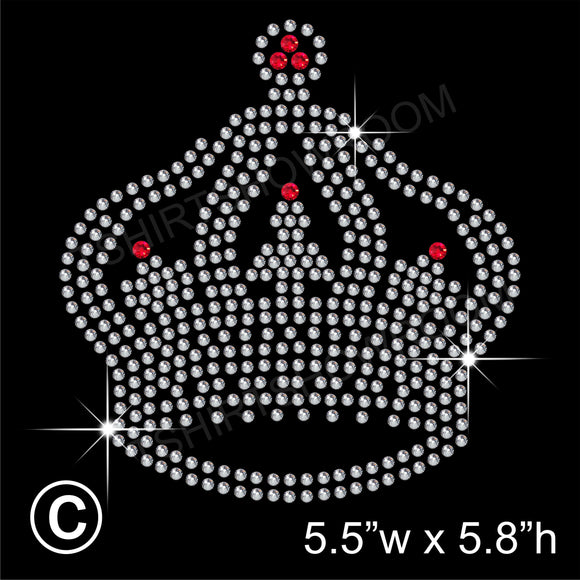 Crown/ Tiara Hotfix Rhinestone Transfer Diamante Motif Iron on Applique