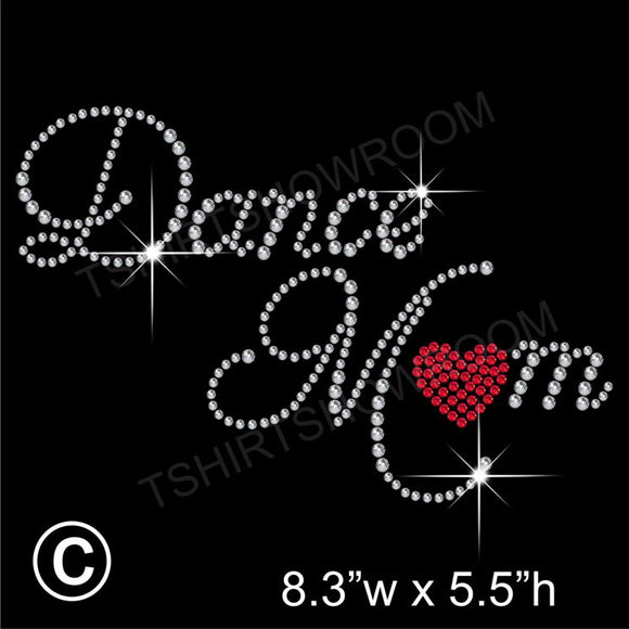 Dance Mom Hotfix Rhinestone Transfer Diamante Motif, Iron-on Applique
