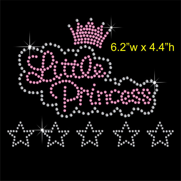 Little Princess Hotfix Rhinestone Transfer Diamante Motif, Iron-on Applique
