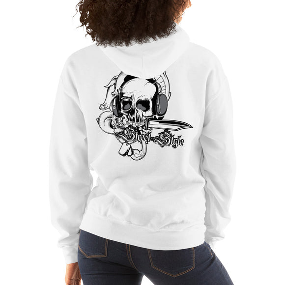 Ladies Hooded Sweatshirt, Skull design at the back code: 150
