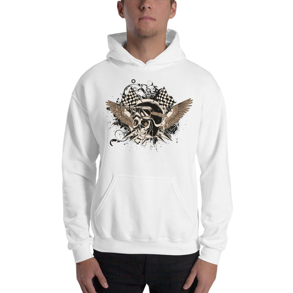 Men's Hooded Sweatshirt, Skull design code: 175