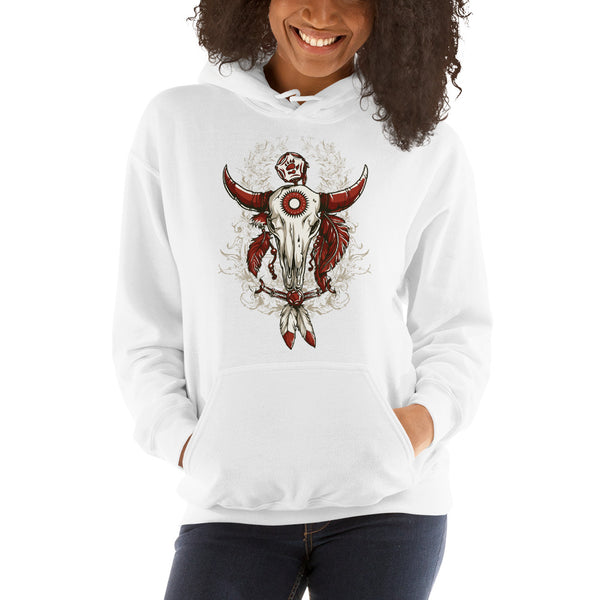 Ladies Hooded Sweatshirt, Skull design code: 663