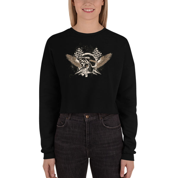 Women's Crop Sweatshirt, Skull design code: 175