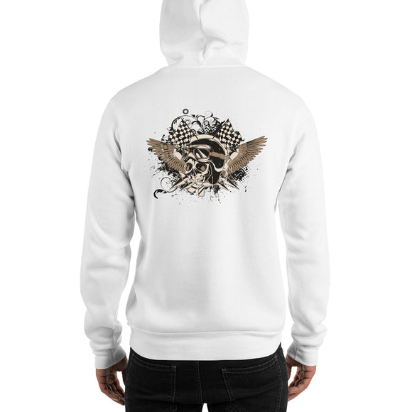 Men's Hooded Sweatshirt, Skull design at the back code: 175