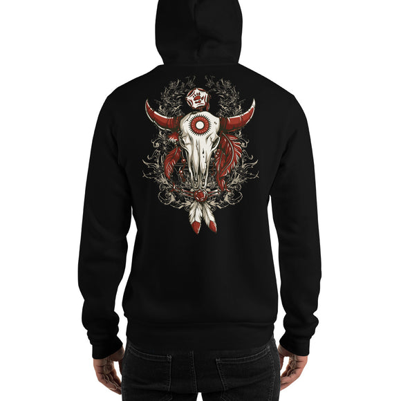 Men's Hooded Sweatshirt, Skull design at the back code: 663