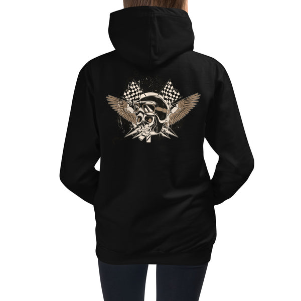 Girls Hoodie, Skull Design at the back code: 175