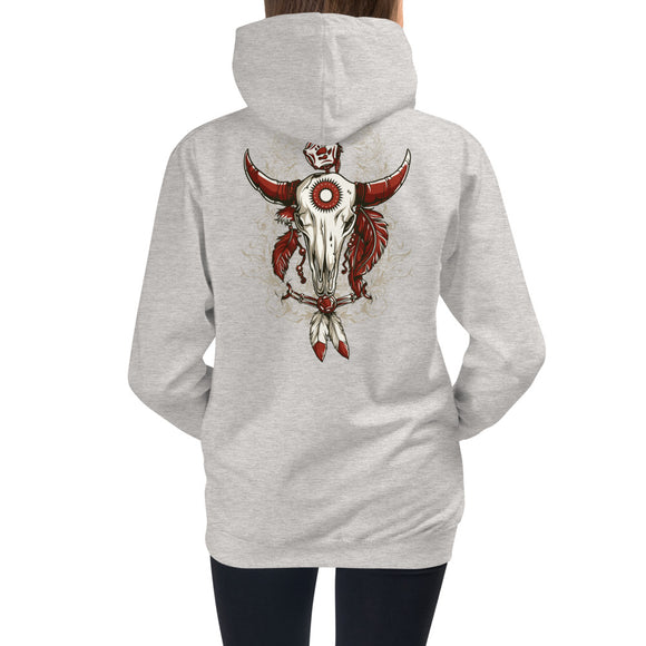 Girls Hoodie, Skull Design at the back code: 663
